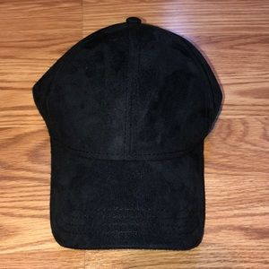 Black Suede Baseball Hat